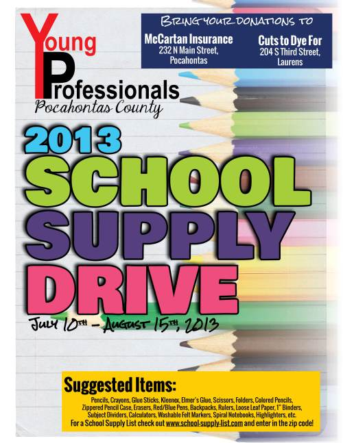 School Supplies Drive 2013