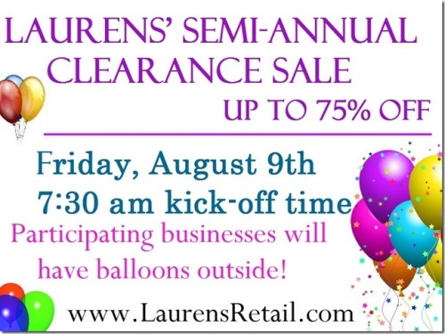 semi annual sale 8-9-13